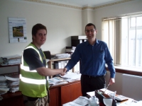 """Welcome Aboard!"" Steve Sowerby and new Joinery Apprentice, Jake Bailey"